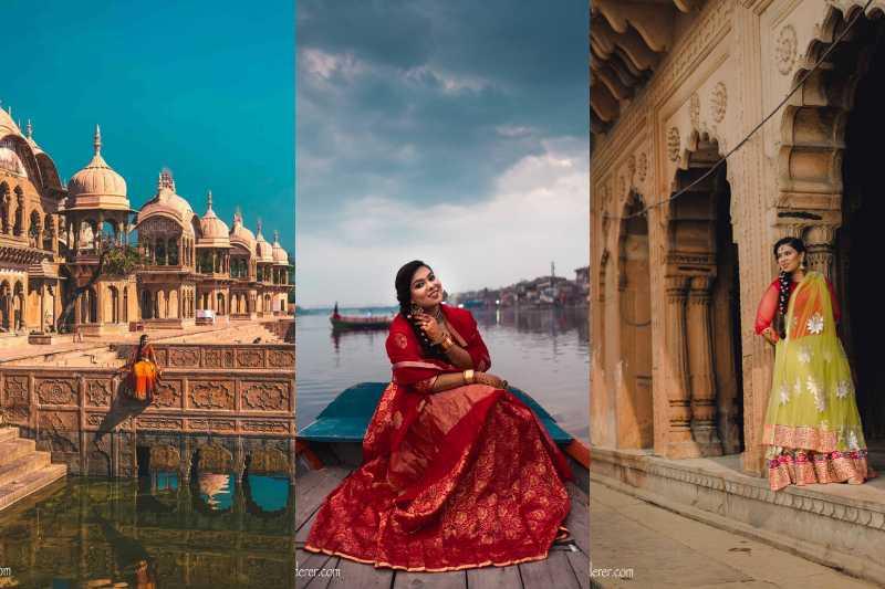 L: Kusum Sarovar, Goverdhan M: Vishram Ghat, Mathura R: Kesi Ghat, Vrindavan