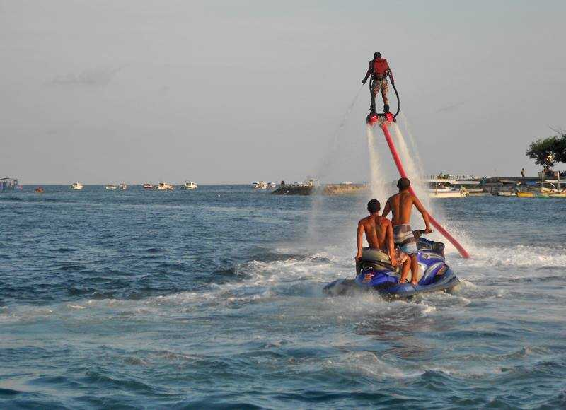 The thrilling flyboarding that some people gave a try at this beach (but we were too scared to try it- maybe next time!)