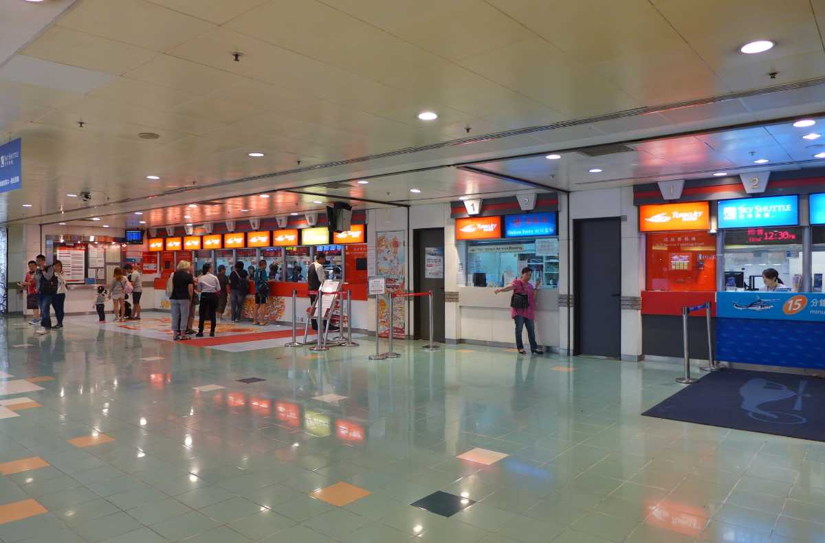 The modern arrival and departure facilities at the Macau Ferry Terminal