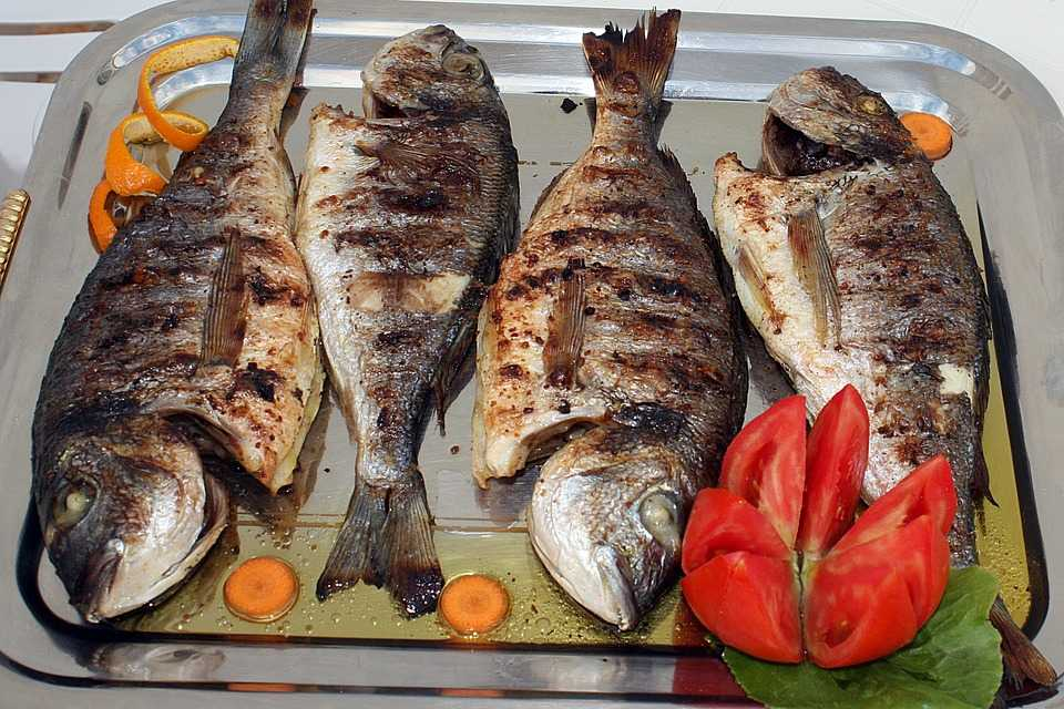 Grilled Fish served in one of the restaurants in Seychelles