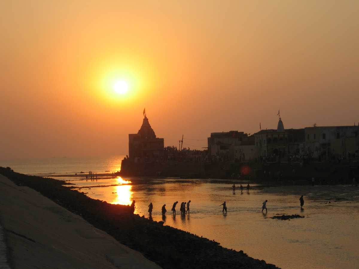 Sunset at Dwarka