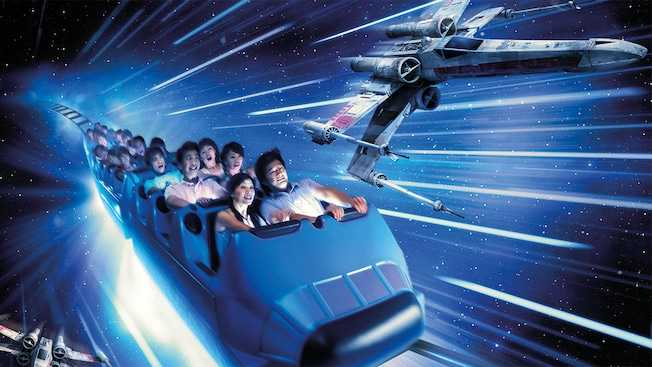 Hyperspace Mountain Ride at Disneyland Hong Kong