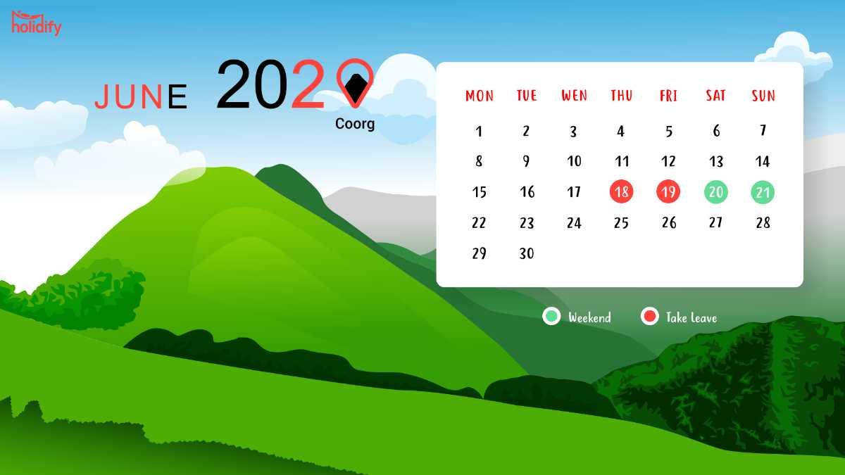 June Holiday Calendar