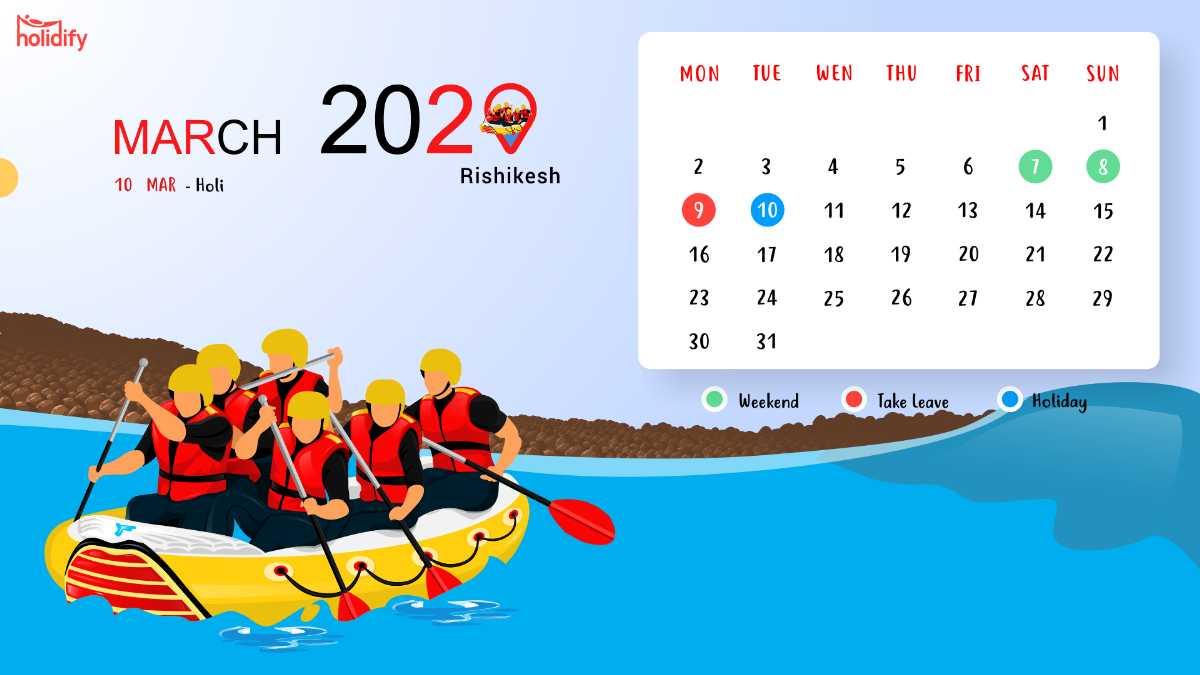 March Holiday Calendar