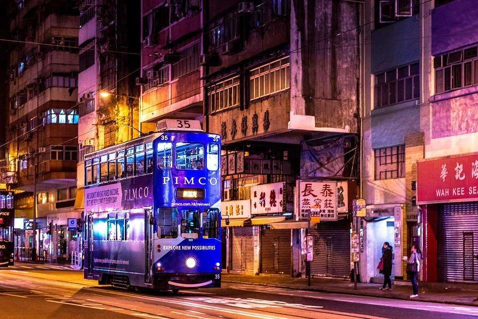 Hong Kong Street at Night