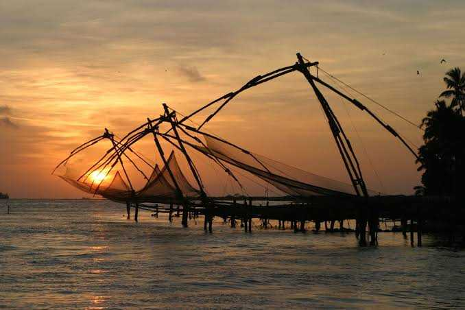 Sunset at Kochi, Kerala