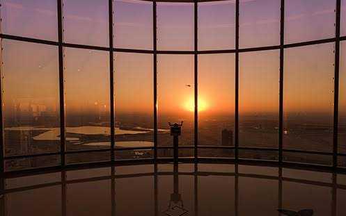 Sunrise in Dubai from Deira Creek, Dubai