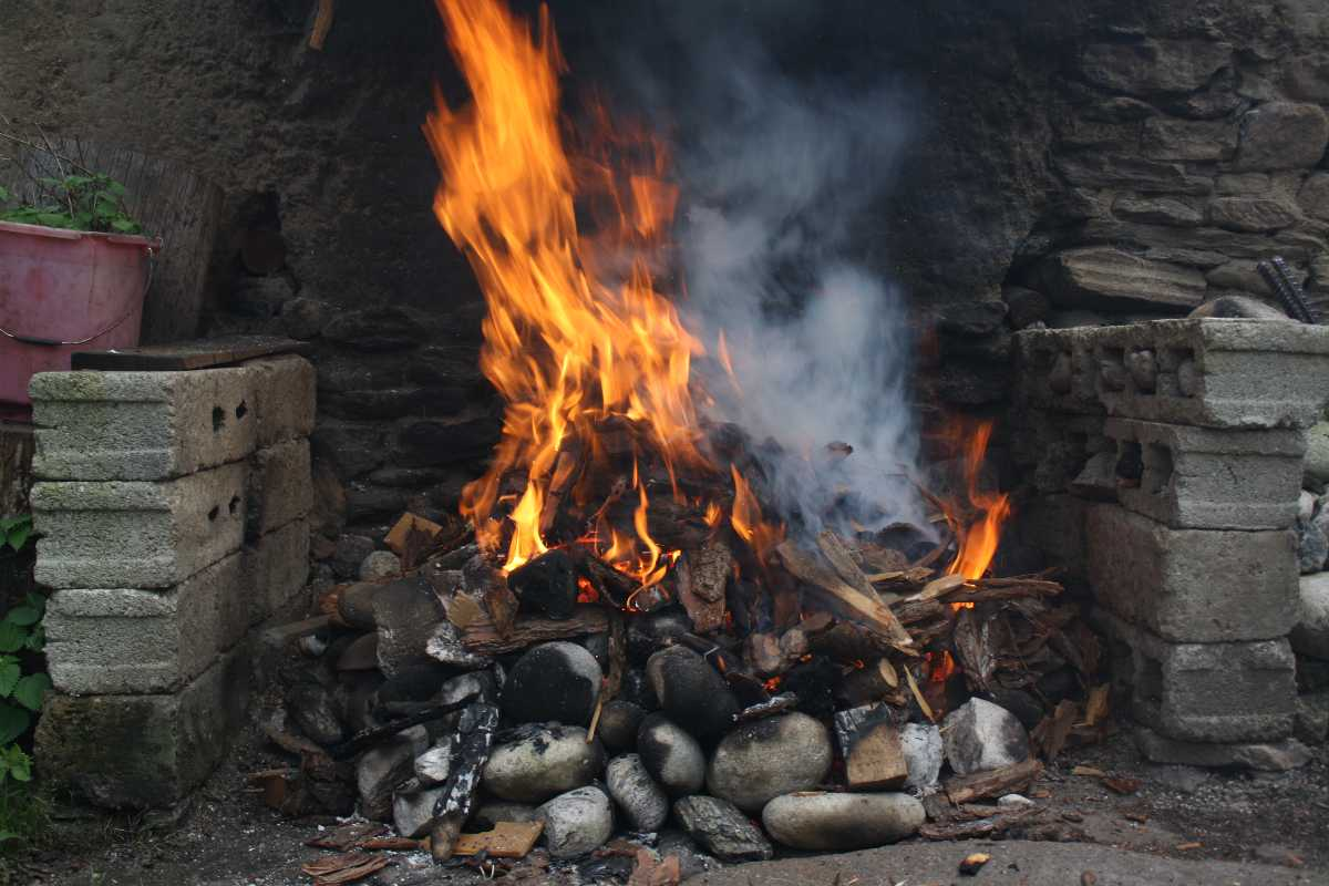 Roasting of Stones in Fire, Hot Stone Baths in Bhutan