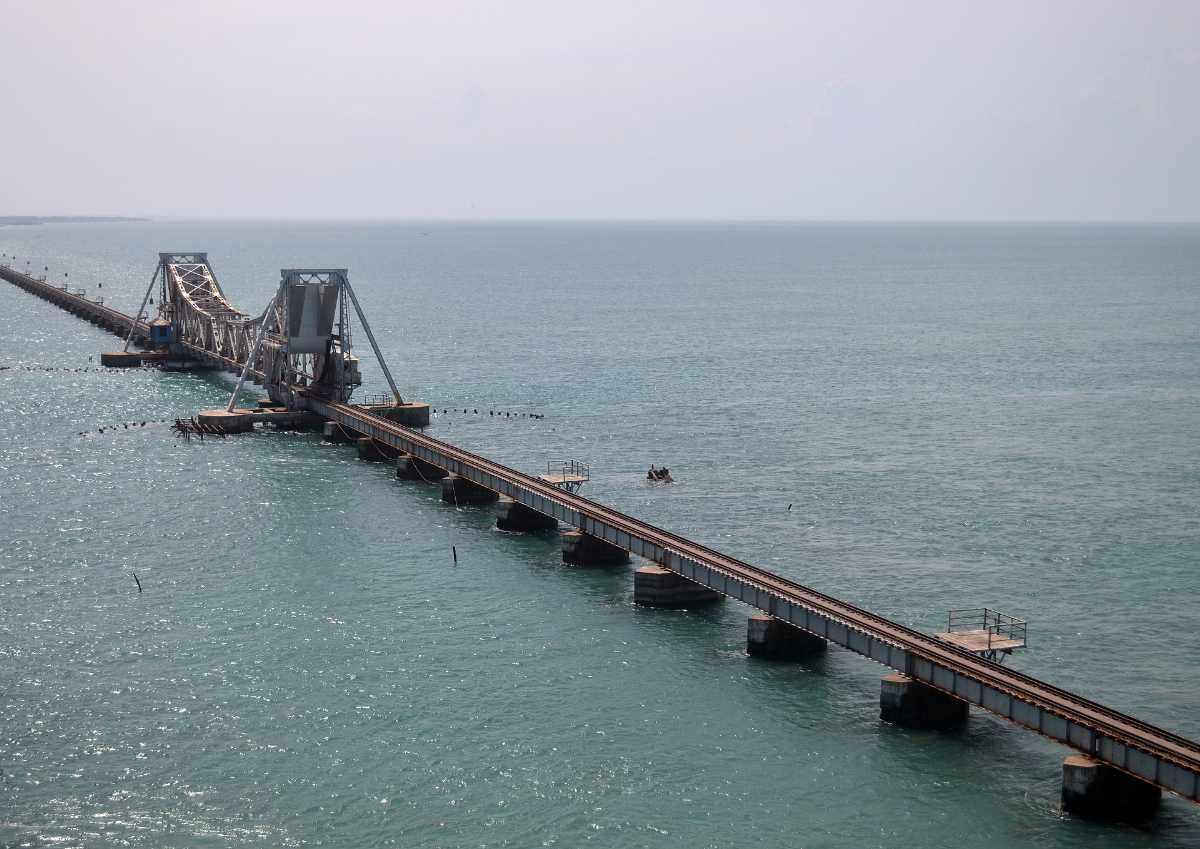 Railway Bridge in Rameshwaram