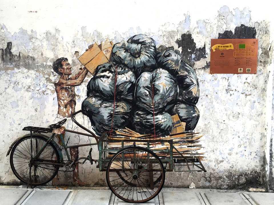 Trishaw mural, Art of Oldtown Ipoh