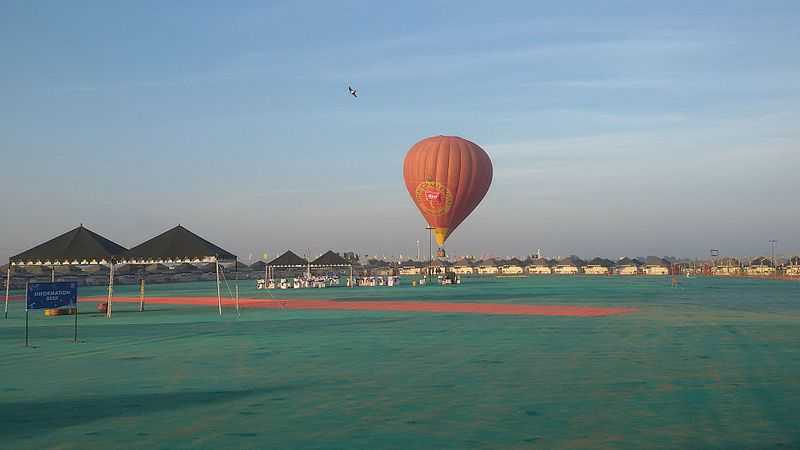 Hot Air Balloon at Jal Mahotsav