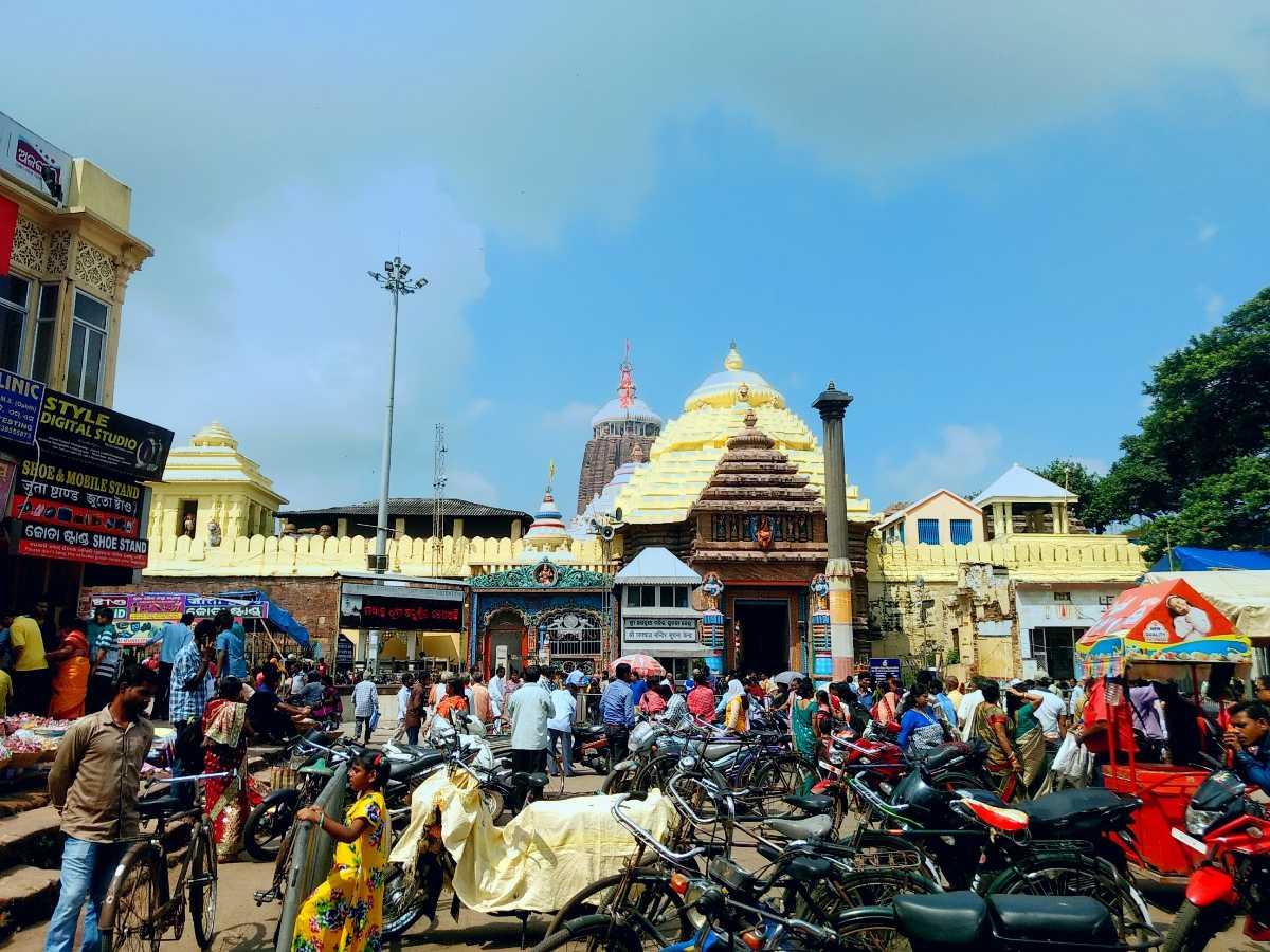 Jangannath Temple in Puri, Orissa