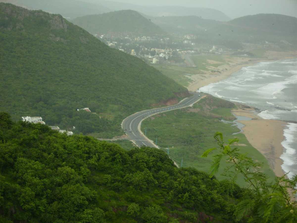 Beach road from Kailashagiri