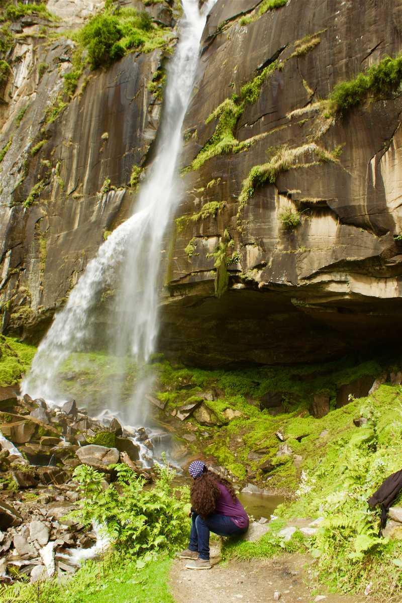 Closer look of the Jogini Falls