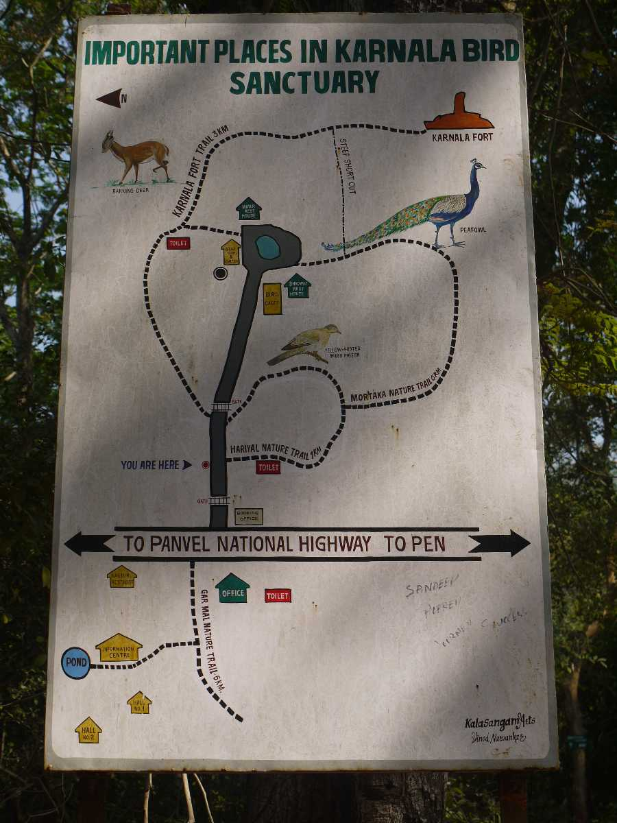 Karnala Bird Sanctuary map