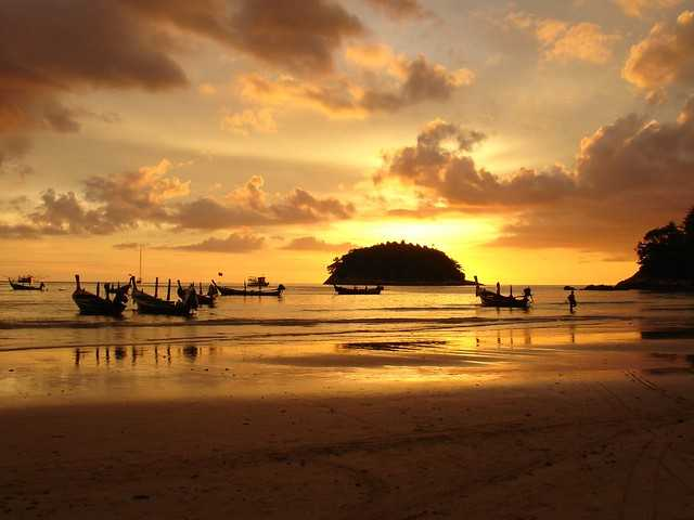 sunset at kata beach
