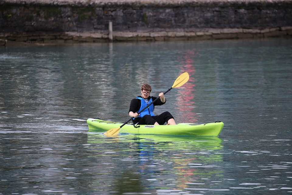 Kayaking, canoeing, pedal boating