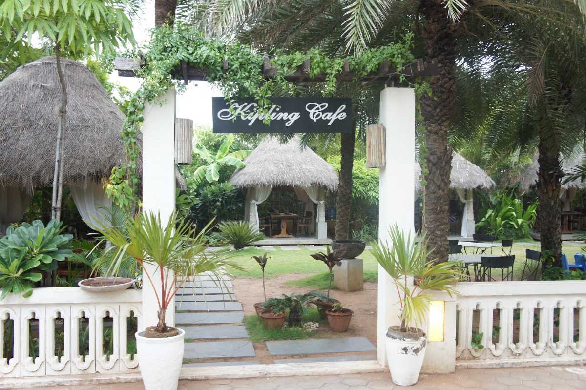 Entrance to the Kipling Cafe in Chennai