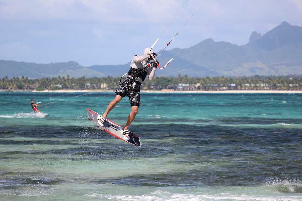 Kite surfing in Maldives