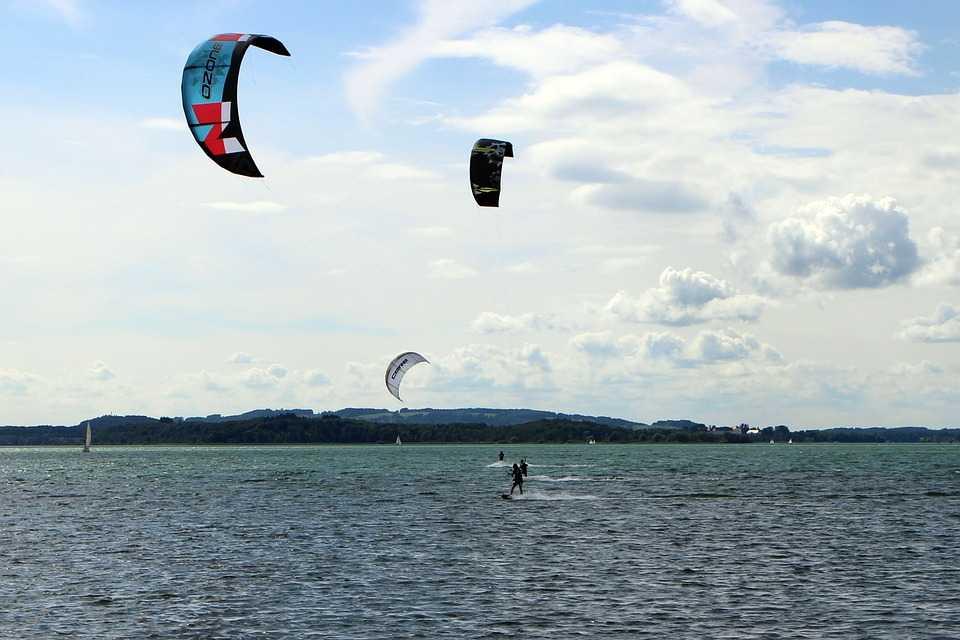 Kite Surfing in Pak Nam Pran, Thailand