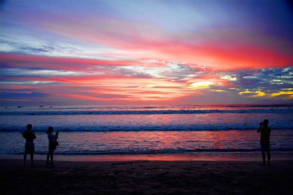 Breathtaking sunset at Bali, Indonesia