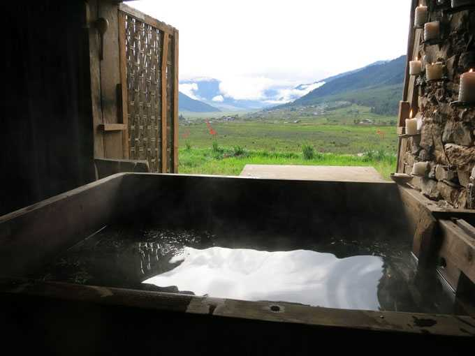 Hot Stone Bath in Bhutan