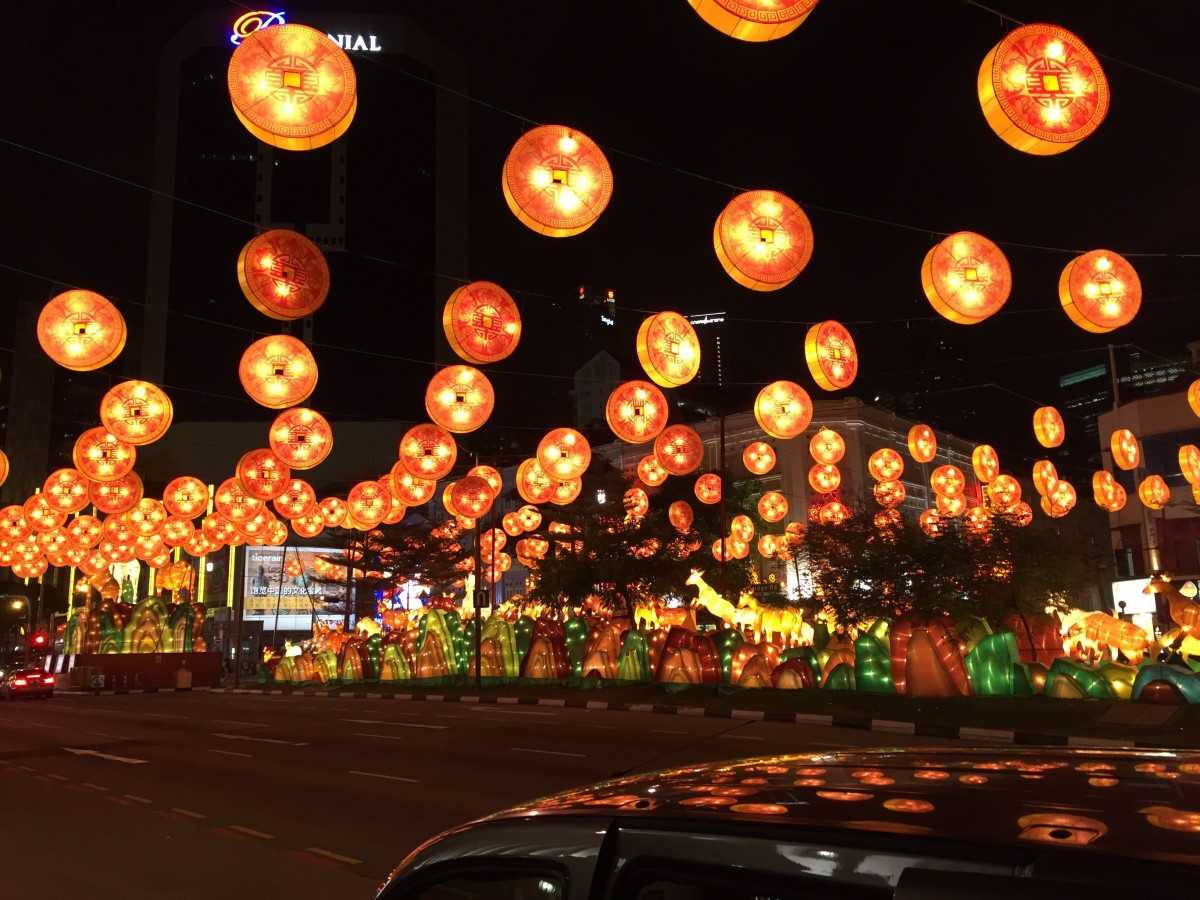 Chinatown Singapore during Mid-Autumn Festival
