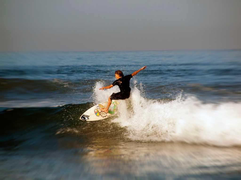 Surfing in Bali, Legian beach