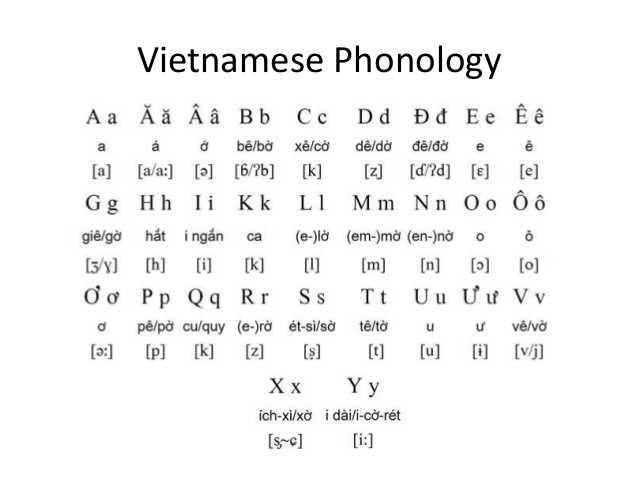 Languages in Vietnam, Vietnamese Phonology