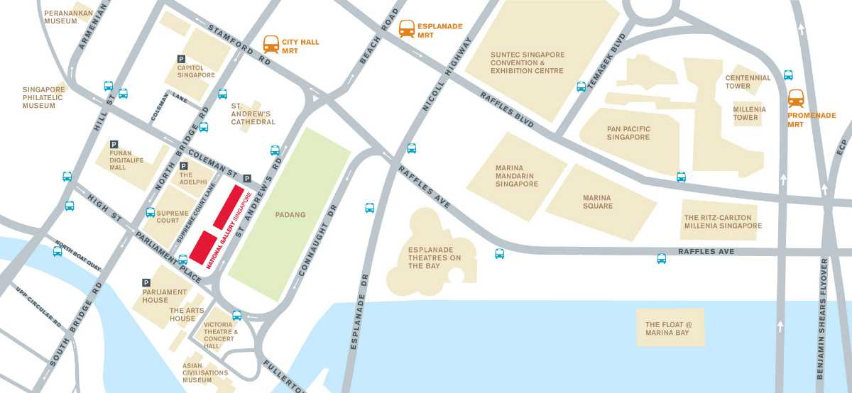 National Gallery Singapore Map