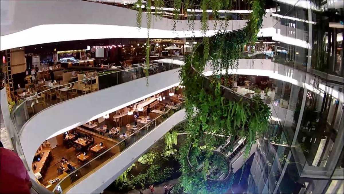 Rainforest Chandelier at EmQuartier Mall Bangkok