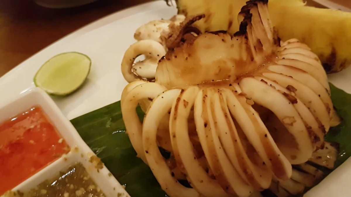 Pla Muek Yang is Char-Grilled Squid, an amazing Thai delicacy