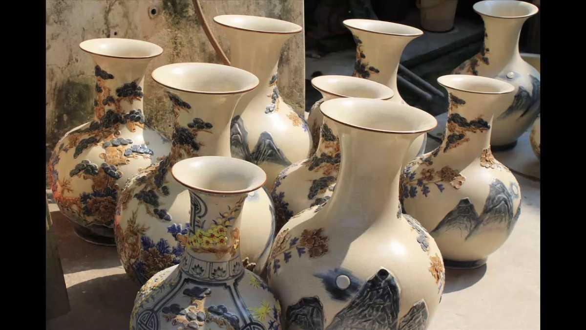 Vases at Bat Trang Pottery Village Hanoi