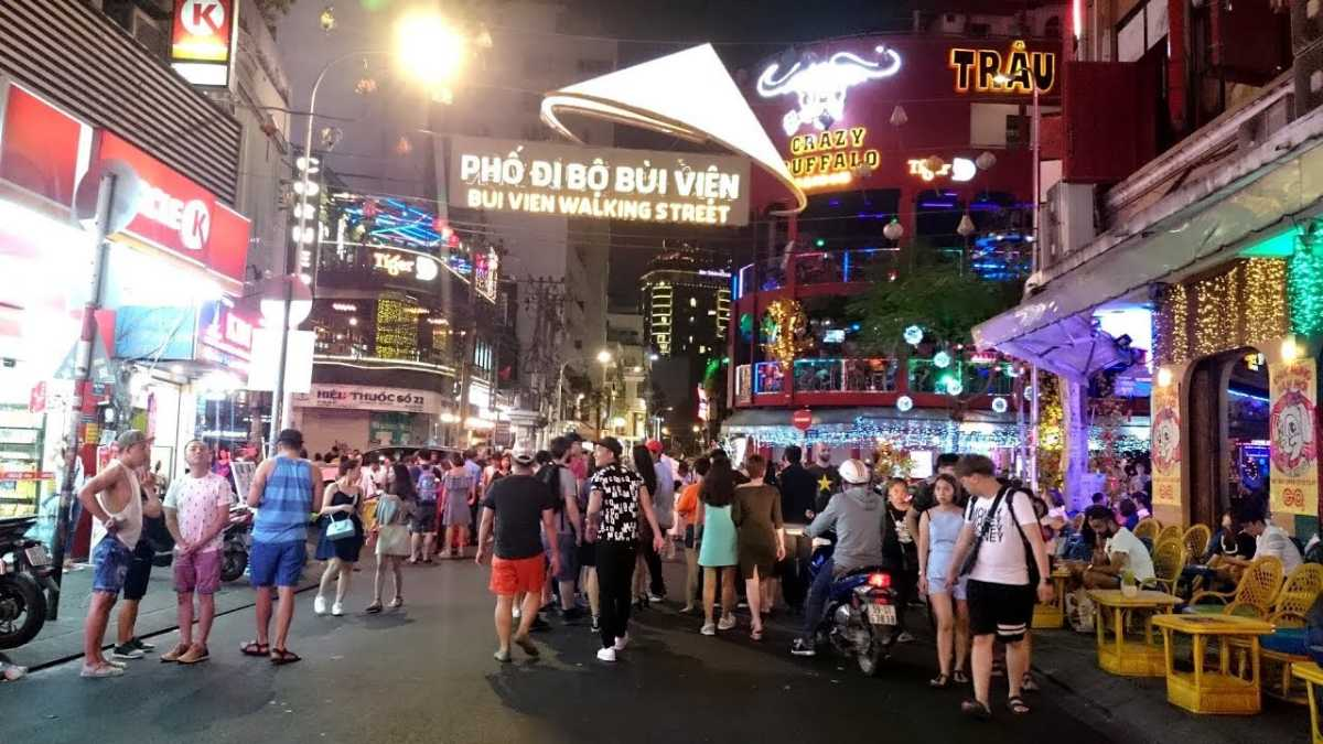 Bui Vien Walking Street Ho Chi Minh City Vietnam