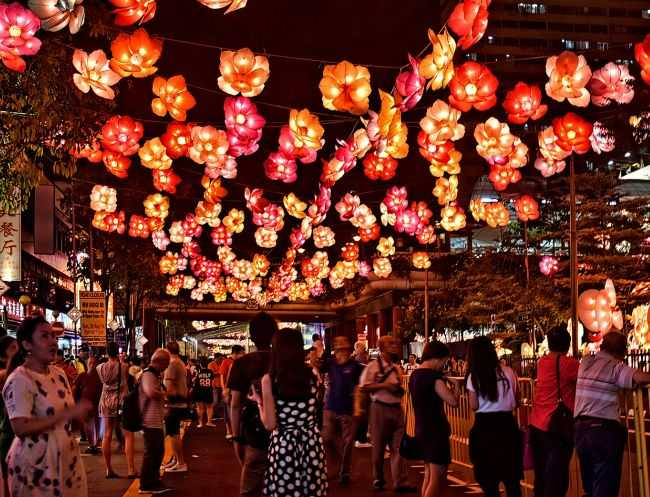 Mid autumn Festival at Chinatown, Singapore in September