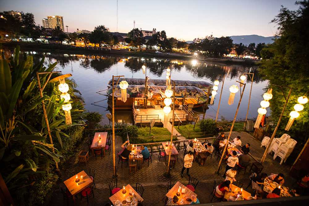 Riverside Bar in Chiang Mai in Thailand