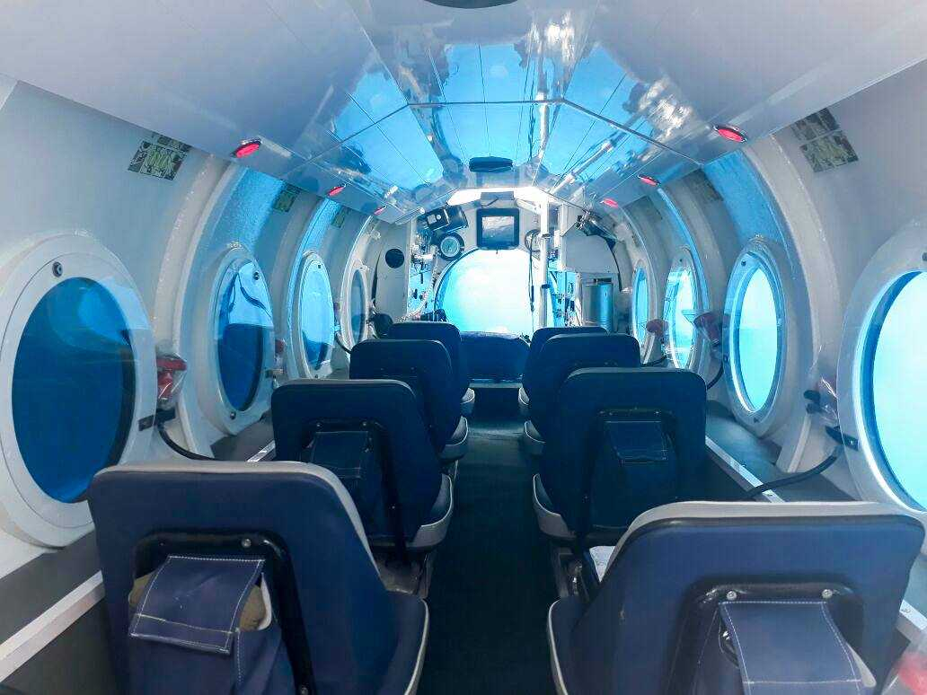 An inside view of the Submarine
