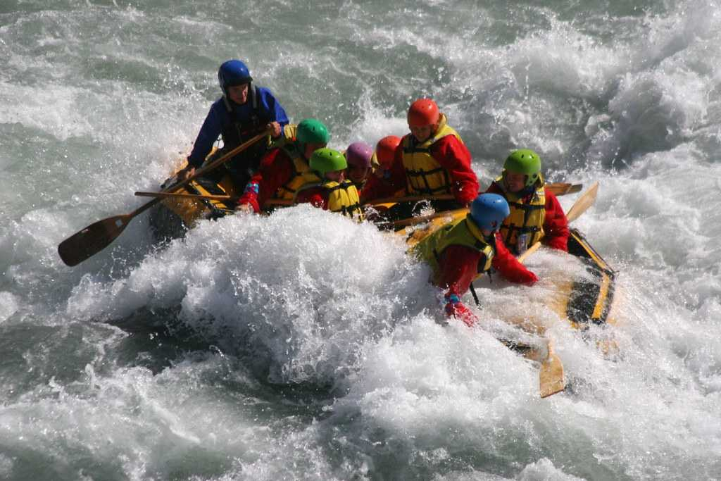 White Water Rafting, New Year in Nepal