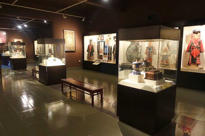 Clothing displays at National Museum of Vietnamese History