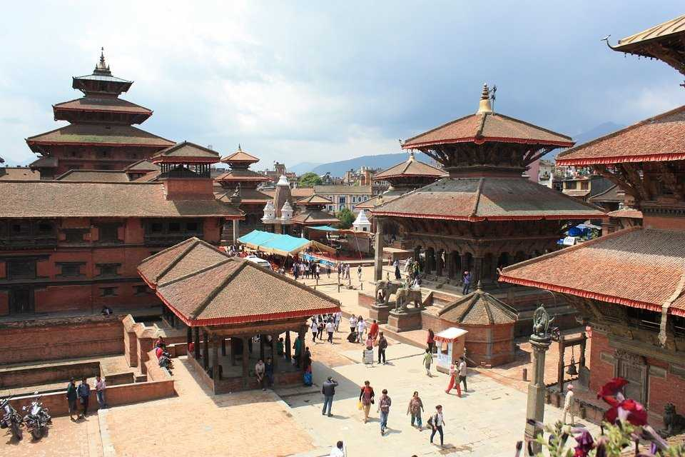 The scene of the Great Durbar Square.