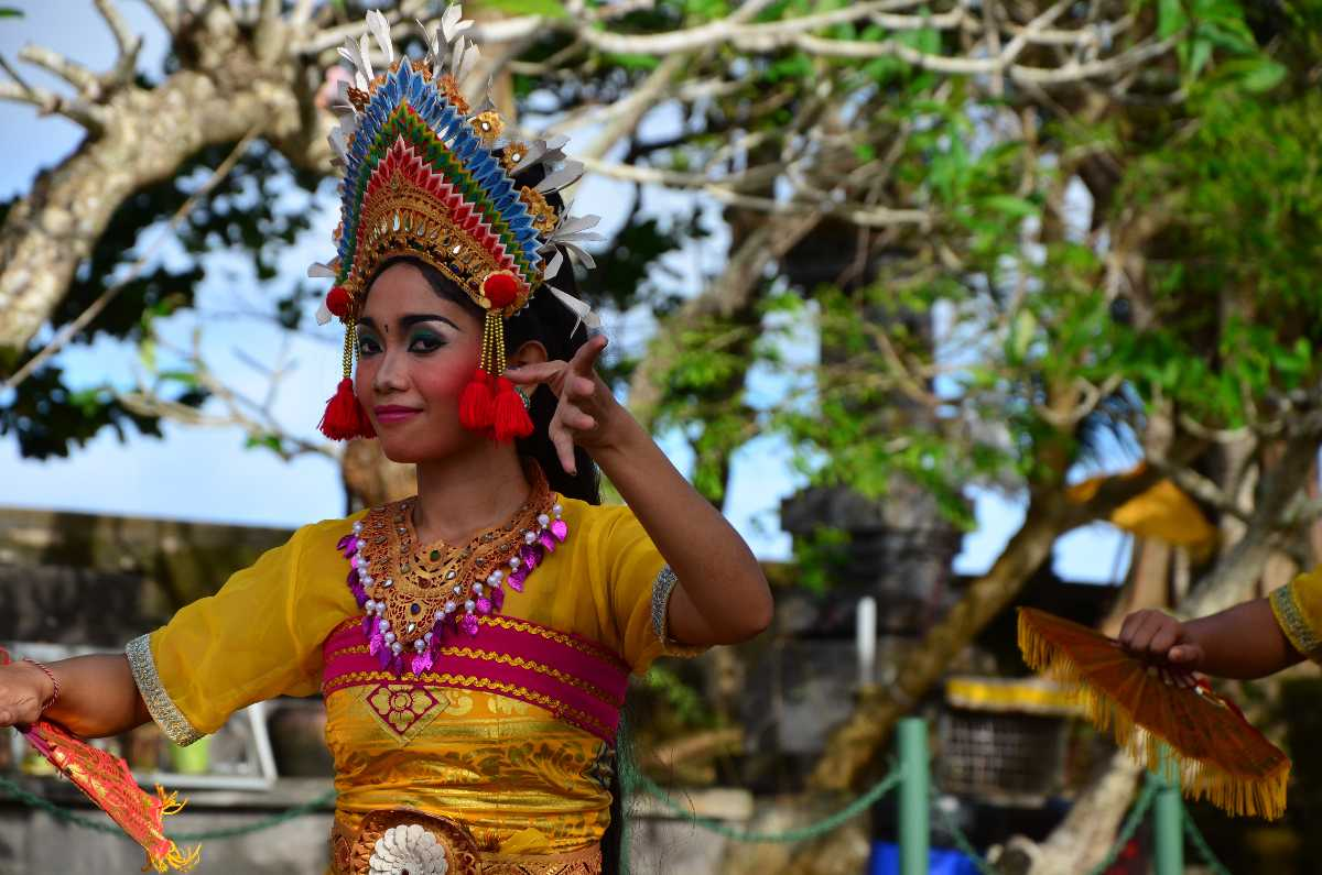 Balinese Dancer Performing