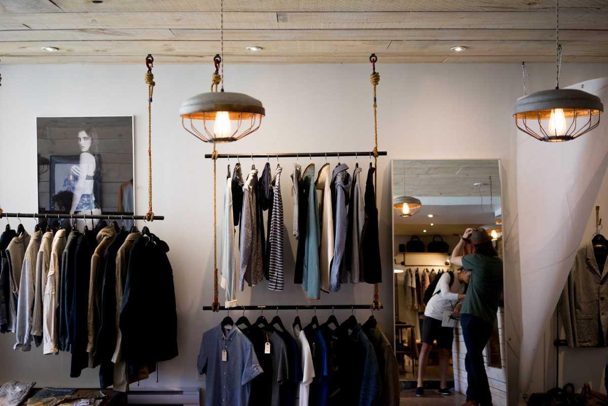 An apparel store