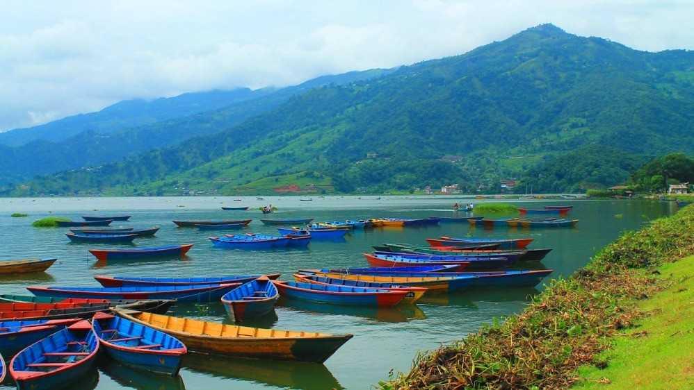 Boating at Lakeside Pokhara