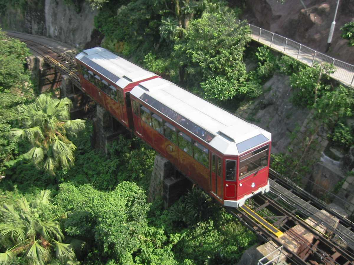 The Peak Tram in Hong Kong
