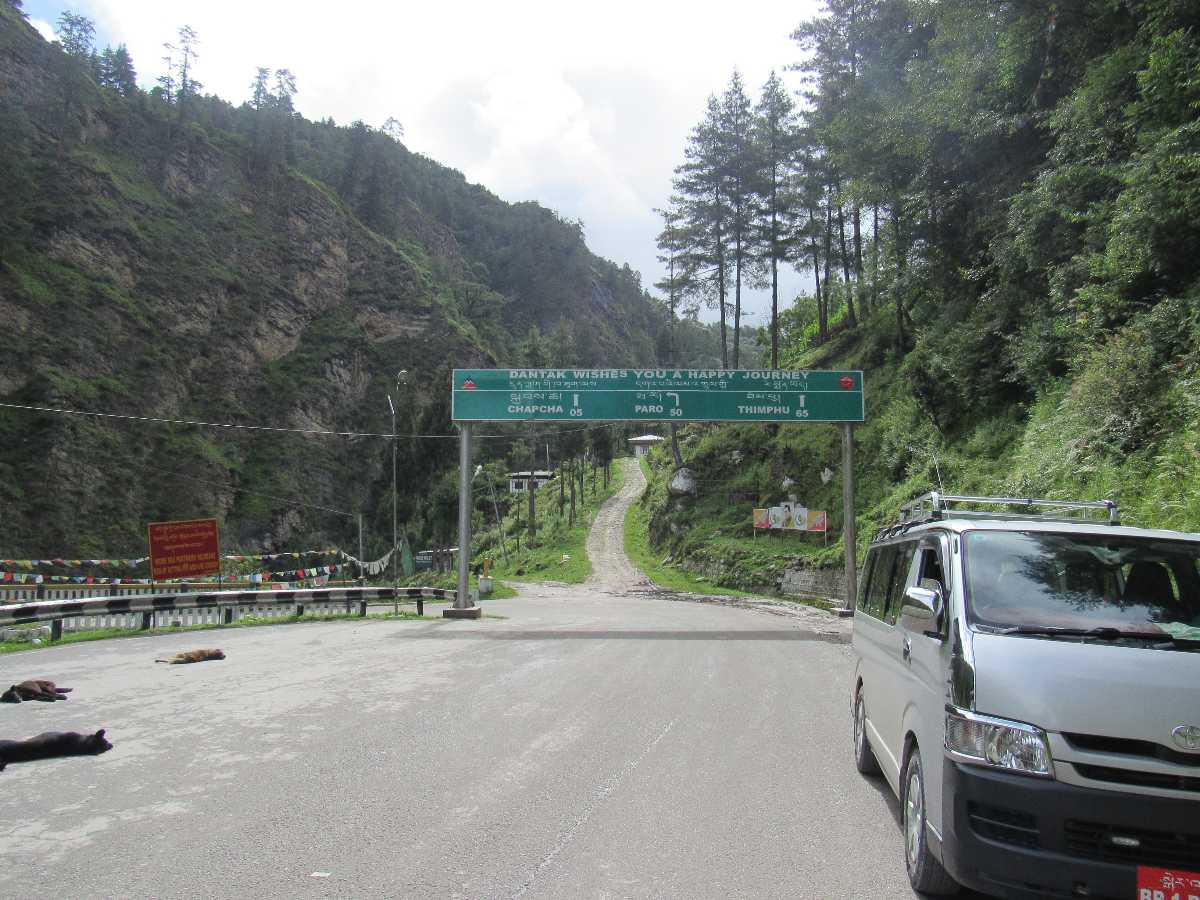 Driving In Bhutan Drive A Car From