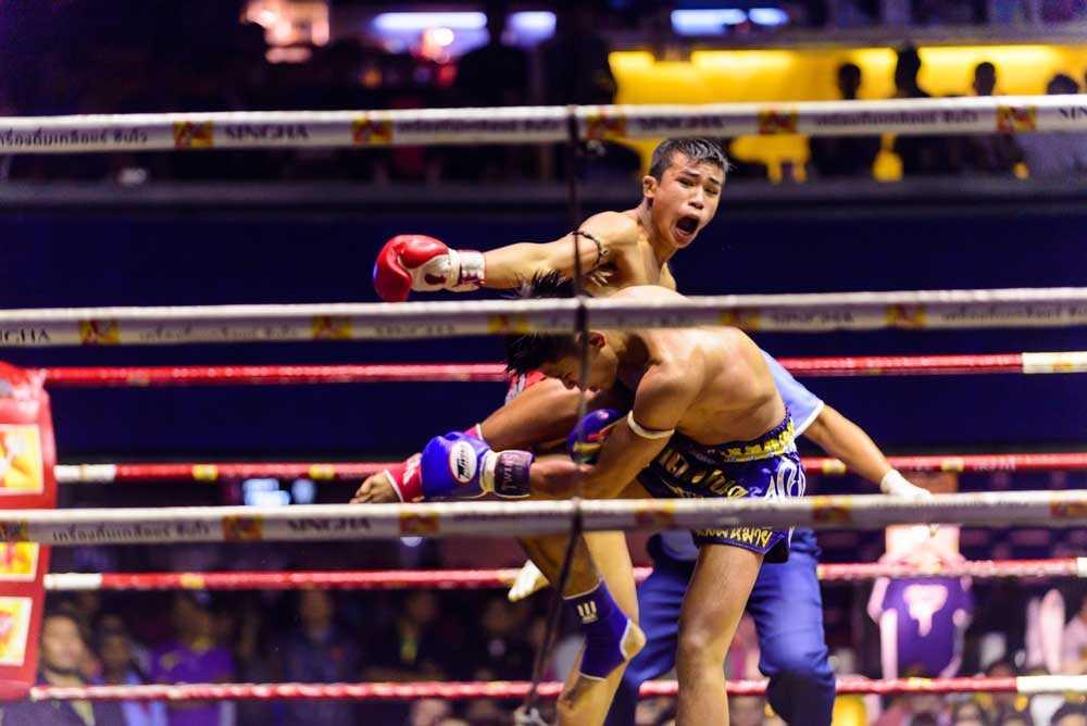 Muay Thai at Rajadamnern Stadium Bangkok Thailand