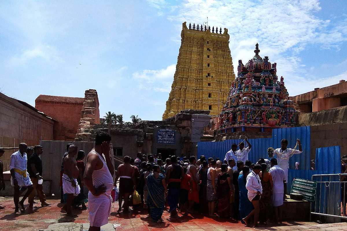 Pilgrims in Rameshwaram Temple