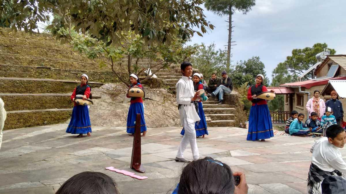 Kids Practicing Kumaoni Dance