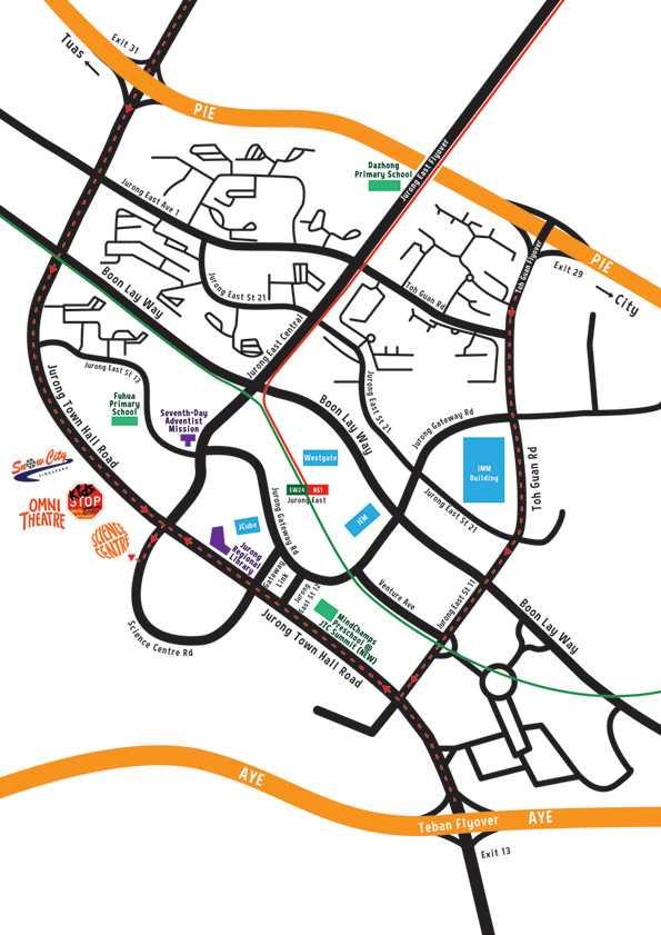 Science Centre Singapore Direction Map