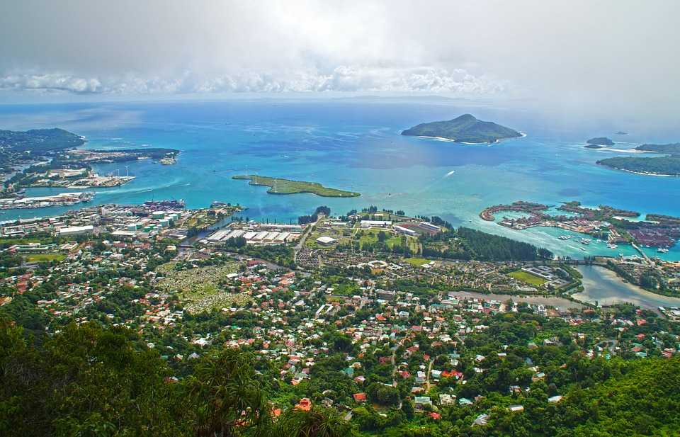 View of Victoria from Dans Gallas, Seychelles